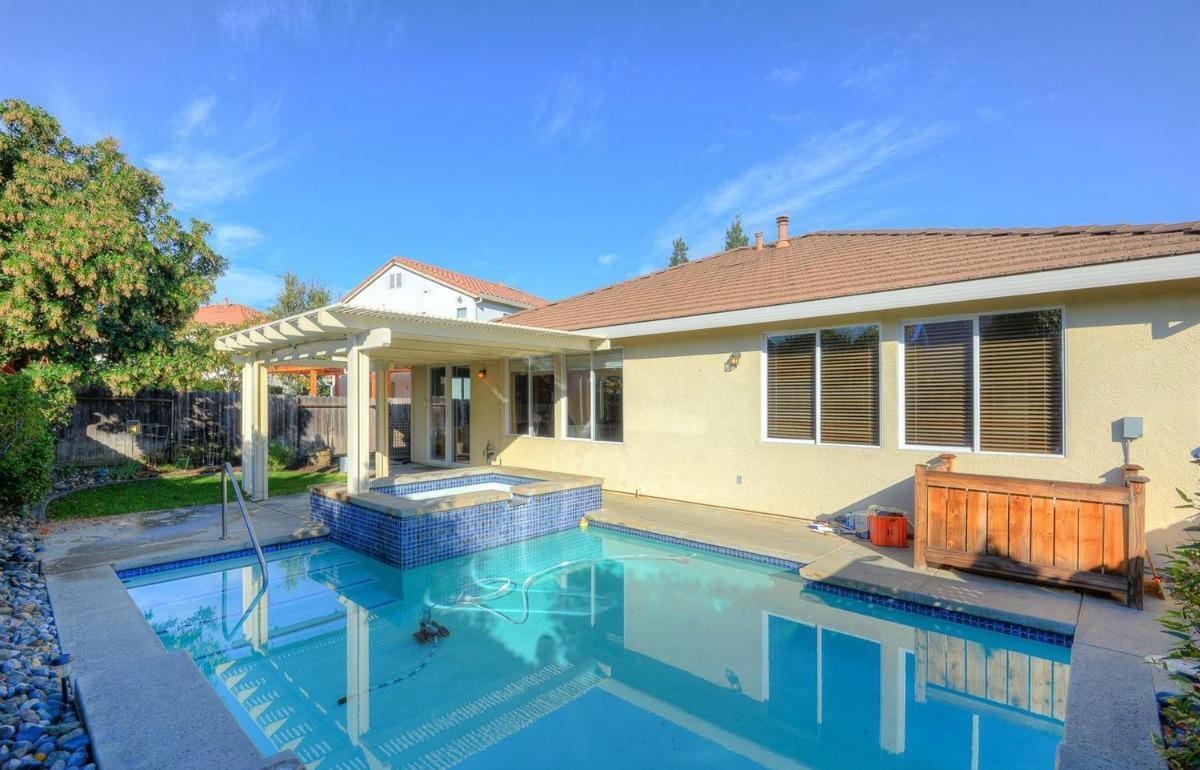 Kaye Swain Sacramento Area REALTOR Sharing 2621 Rogue Way West Roseville CA 95747 Backyard And Pool