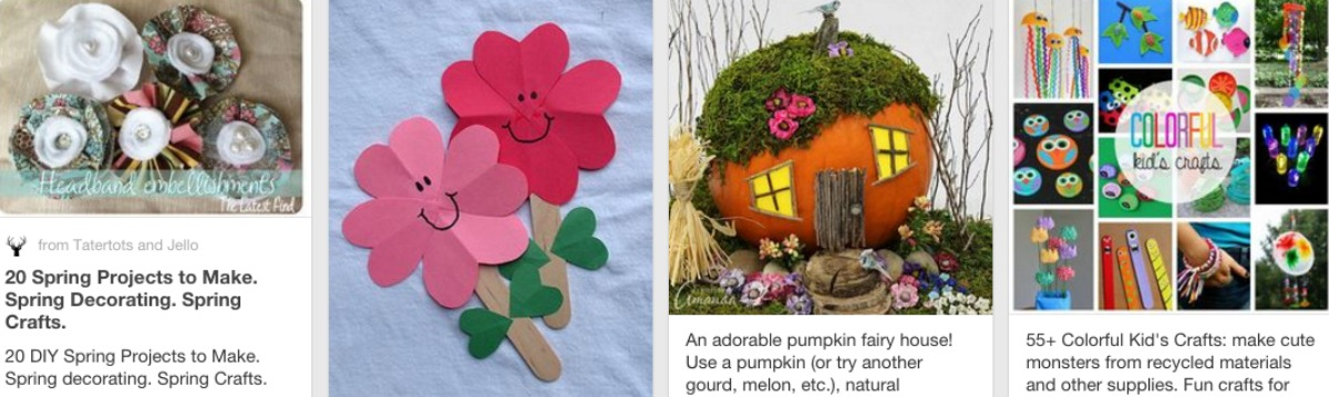 Pinterest boards for a variety of reasons and needs kaye for Spring craft ideas for adults
