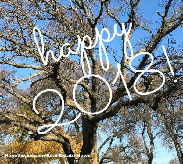 Roseville Real Estate Agent Kaye Swain says Happy 2018 with Sun City Roseville Oak Trees