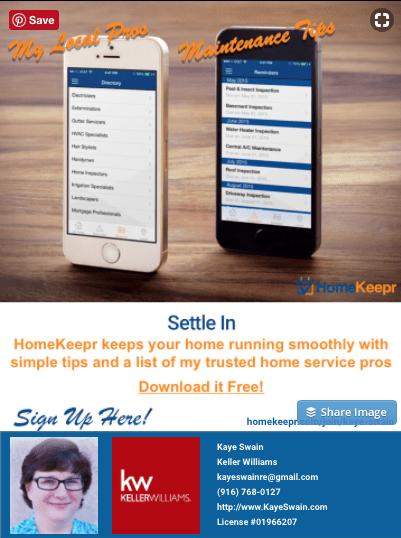 Kaye Swain Roseville REALTOR Sharing free home maintenance and real estate apps