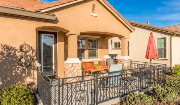 Lovely active senior Living Community in Silverado Homes Roseville CA Volonne front yard