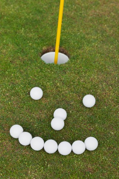 Golf ball smiles at Sun City Roseville homes for sale with a view