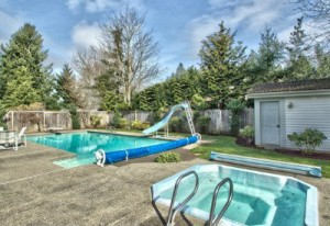 My grandkids would give their eyeteeth for a swimming pool in the back of one of the big homes for sale in