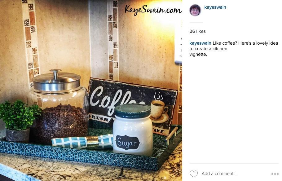 Kaye Swain sharing home decor tips instagram-style