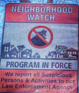 theiles manor neighborhood watch sign nw sign