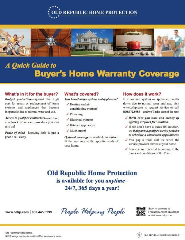 Kaye Swain Roseville Real Estate Agent shares Buyers Home Warranty Coverage Quick Guide ORHP