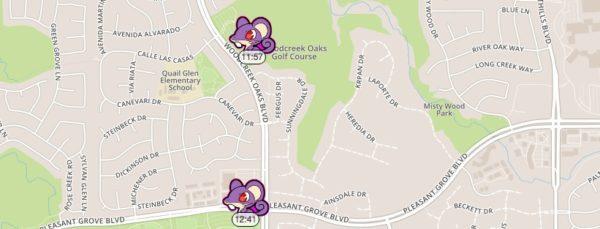 Roseville Real Estate Agent Kaye Swain spotted Pokemon Go critters near Woodcreek Oaks Golf Course Mahany Park