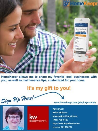 Free App from Roseville Real Estate Agent Kaye Swain