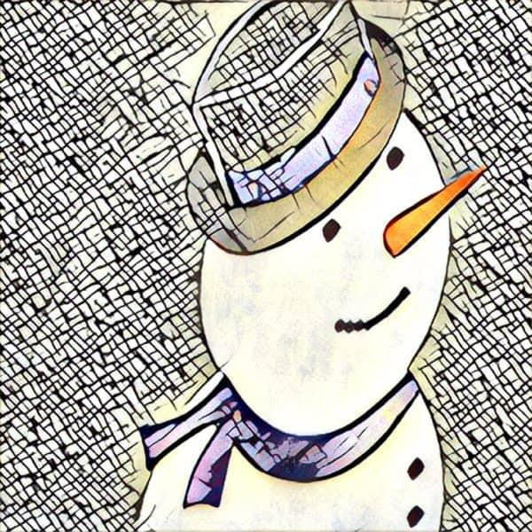 Roseville REALTOR Kaye Swain sharing snowman joys Woodcreek Oaks Neighborhood