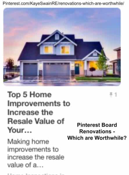 Kaye Swain Roseville Real Estate Agent shares Pinterest Board renovations options