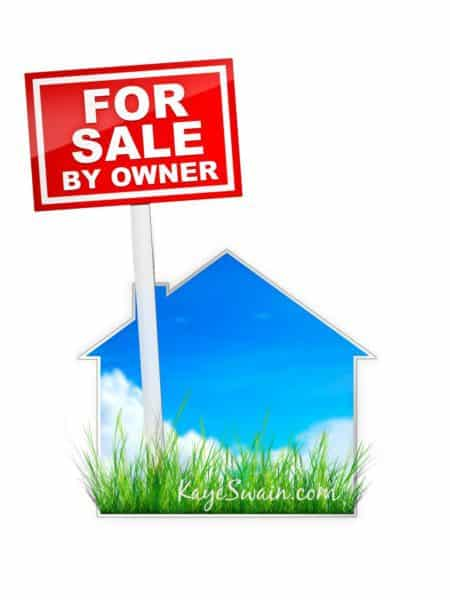Real Estate Sign – For Sale by Owner. 2D artwork. Computer Design.
