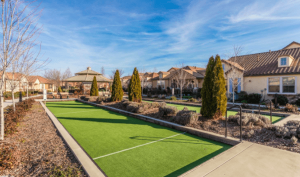 Lovely active senior Living Community in Silverado Homes Roseville CA Volonne bocce