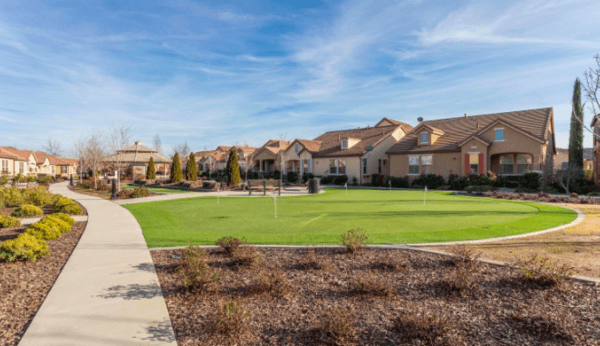 Lovely active senior Living Community in Silverado Homes Roseville CA Volonne community area