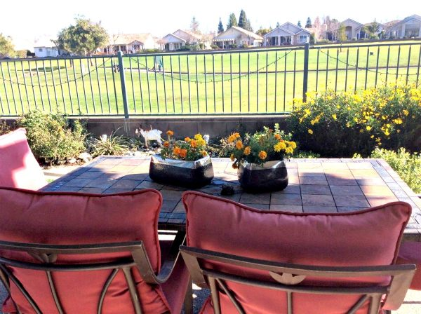 Gorgeous view of the 8th tee on one of golf course Roseville Del Webb homes for sale b