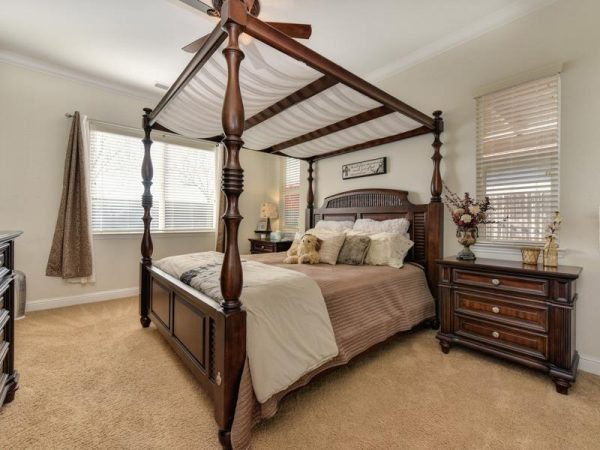 Large and lovely master bedroom one of homes for sale del webb roseville the Club at Westpark