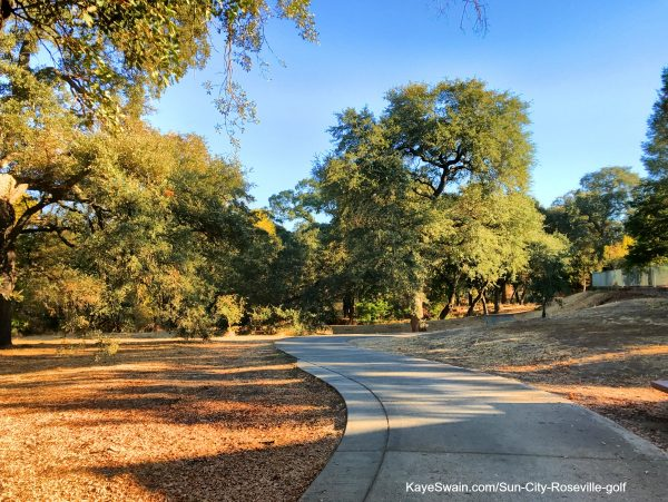 Walking paths as well as sidewalks at Sun City Roseville California autumn pix