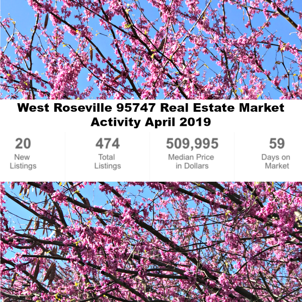 West Roseville 95747 Real Estate Market Activity April 1 2019