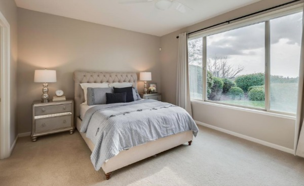 Kaye Swain sharing gorgeous bedroom view in one of homes for sale in sun city lincoln hills