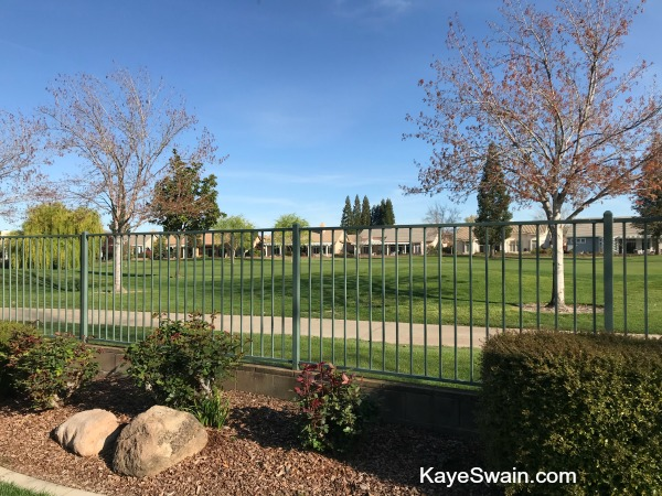 gorgeous backyard view in Roseville Sun City one of the affordable golf retirement communities in Roseville Area