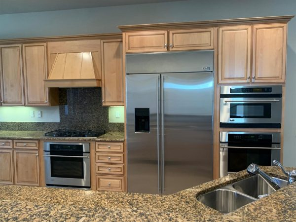 Upgraded kitchen appliances in many of the Del Webb Retirement Communities Roseville CA