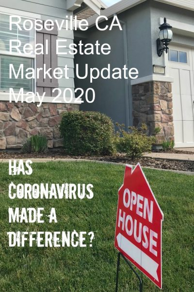 Roseville Real Estate Market Update May 2020 Has Coronavirus made a difference