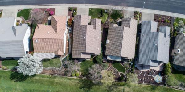 Kaye Swain realtor sun city roseville ca sharing drone view of this lovely regent model in Sun City Roseville California copy