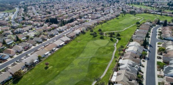 Drone view lovely regent floor plan home for sale sun city roseville