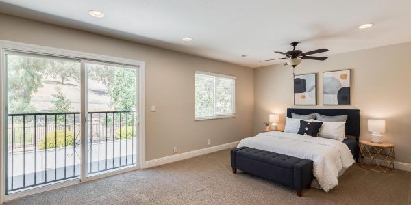 Bigger master bedroom ensuite bedroom bathroom in this home for sale in Rockline CA