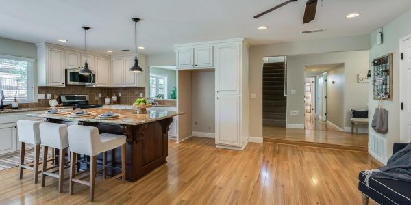 Kaye Swain real estate agent sharing lovely kitchen in home for sale in Rocklin CA