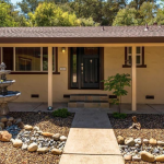 Rocklin real estate with lovely front yard with faux rock river