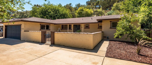 An enclosed patio at this lovely Rocklin CA home for sale