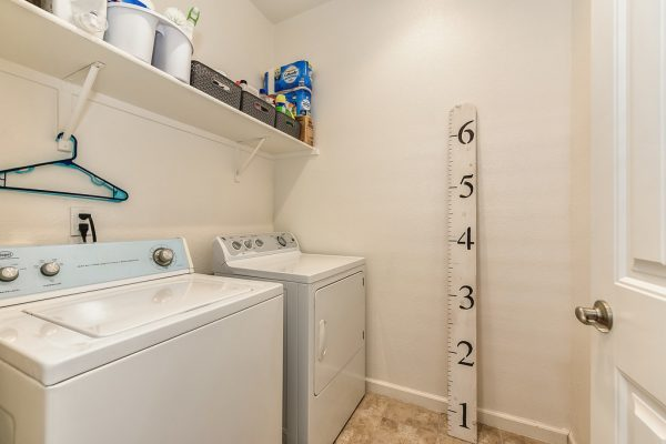 What a handy laundry room right up between the master ensuite and the lovely loft in West Roseville CA