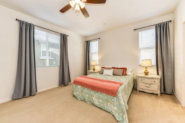 Lots of room and lots of light in this master bedroom in West Roseville