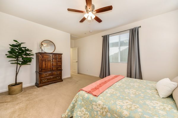 Awesome master bedroom in this beautiful townhouse style home in Paseo Del Norte Subdivision