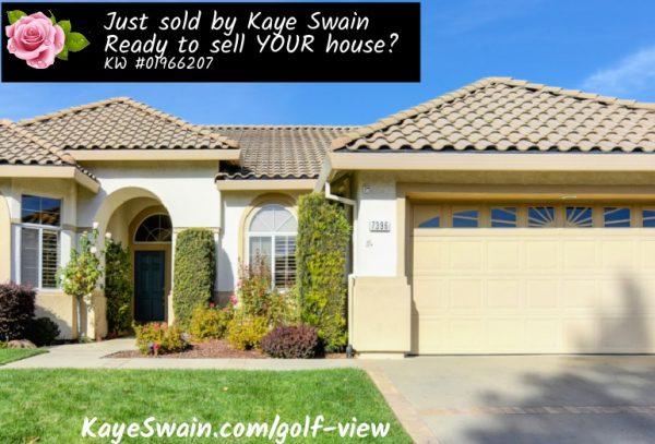 Sun City Roseville Golf Home JUST SOLD by Kaye Swain Roseville REALTOR