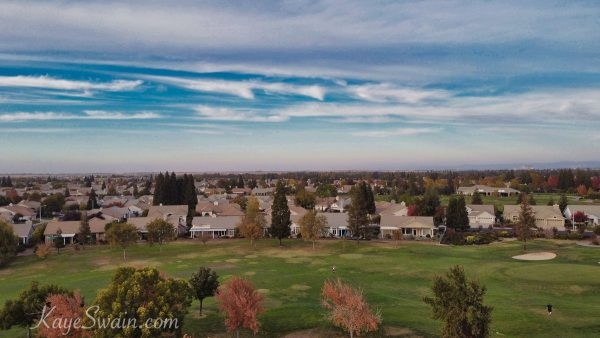 Drone-of-Best-affordable-retirement-golf-communities-in-Roseville-CA-area