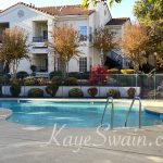 Another view of the swimming pool at Pacific Sunset Rocklin condos for sale
