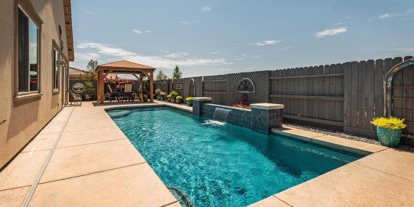 Another view of the gorgeous pool and patio in this lincoln ca house for sale