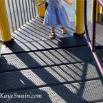 My youngest granddaughter enjoys walking up the ramp that is also wheelchair friendly