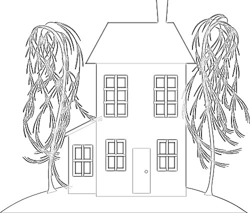 A simpler house for sale coloring page for younger kids