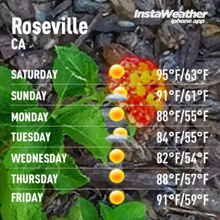 Better weather in Roseville Sacramento CA via Kaye Swain real estate agent blogger