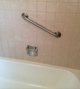 I love to see grab bars in bathrooms - especially on the main floor for elderly seniors
