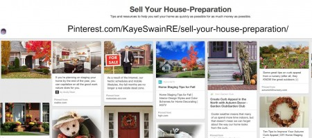 Kaye Swain REALTOR Pinterest board prepping to sell your Roseville CA real estate blog article