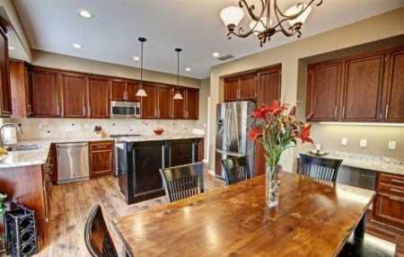 Kitchen and great room are lovely with this laminated flooring 1845 Terracina Circle Roseville CA 95747 MLS 15048506 via Kaye Swain REALTOR beautiful kitchen 1200