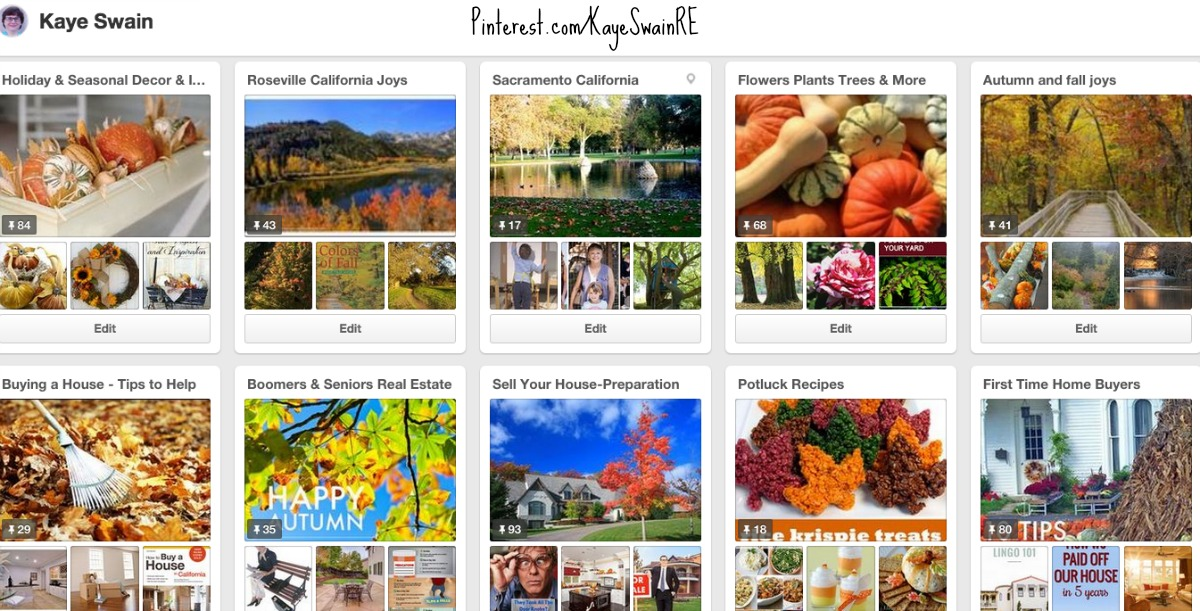 Roseville California Autumn Joys abound on Pinterest by Kaye Swain real estate agent blogger